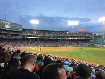 Fenway Park, section: Right field Box 94, row: UU, seat: 3