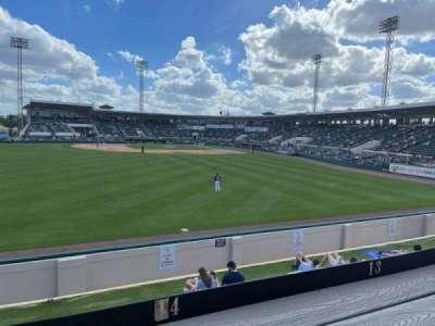 Joker Marchant Stadium, section: Berm, row: Rail, seat: 13