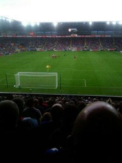 Cardiff City Stadium, section: Canton Stand, row: AA, seat: 583