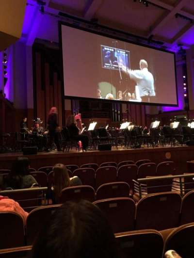 Benaroya Hall, section: Left, row: H, seat: 10