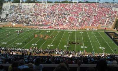 BB&T Field, section: 410, row: F, seat: 10