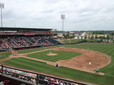Hammons Field, section: Club B, row: 2, seat: 38