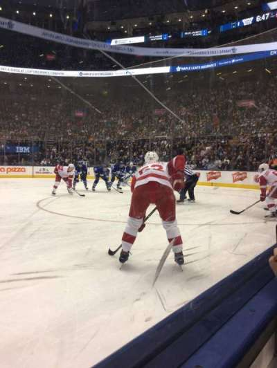 Scotiabank Arena, section: 107, row: 1, seat: 18