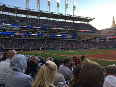 Progressive Field, section: 136, row: L, seat: 6