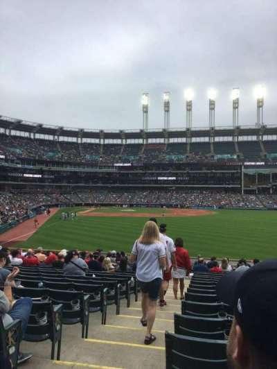 Progressive Field, section: 111, row: V, seat: 14