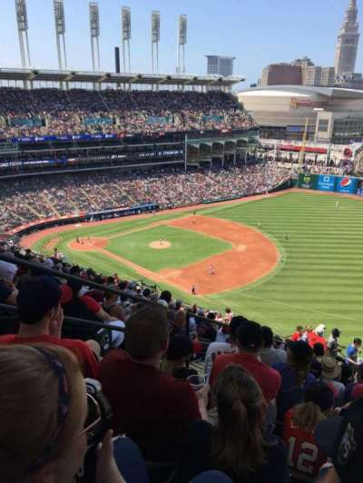 Progressive Field, section: 528, row: W, seat: 21
