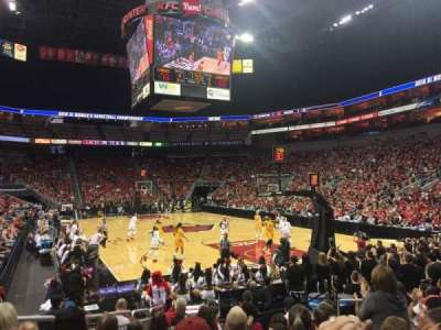 KFC Yum! Center, section: 112, row: M, seat: 5