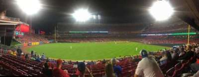 Great American Ball Park, section: 102, row: O, seat: 12