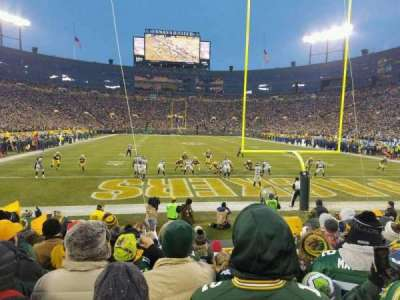 Lambeau Field, section: 138, row: 10, seat: 13