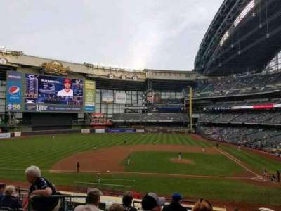 Miller Park, section: 223, row: 6, seat: 15