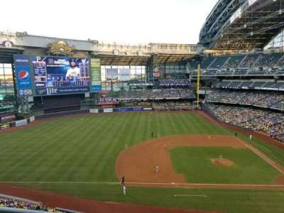 Miller Park, section: 430, row: 1, seat: 2
