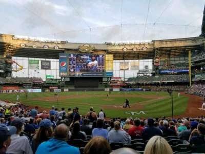 Miller Park, section: 117, row: 20, seat: 20