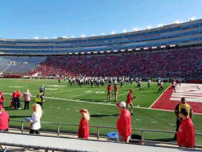 Camp Randall Stadium, section: B, row: 9, seat: 5