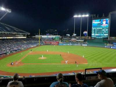Kauffman Stadium, section: 315, row: E, seat: 6