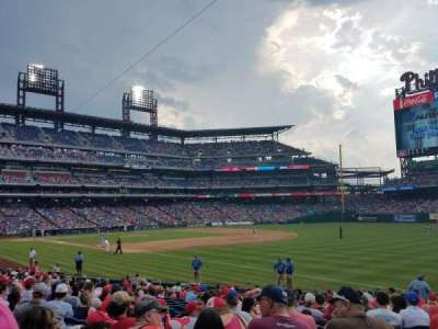 Citizens Bank Park, section: 110, row: 21, seat: 11