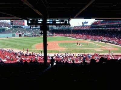 Fenway Park, section: grand stand 26, row: 18, seat: 23
