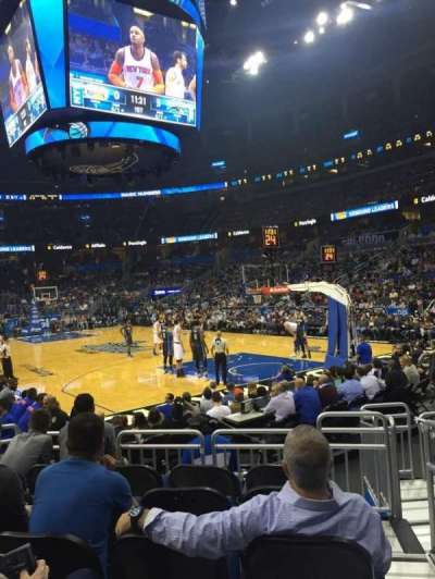 Amway Center, section: 103, row: 6, seat: 1