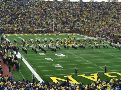 Michigan Stadium, section: 37, row: 61, seat: 27