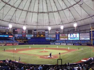 Tropicana Field, section: 101, row: FF, seat: 1