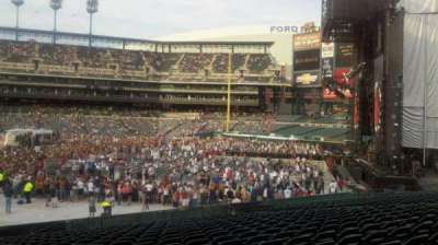 comerica park, section: 106, row: w, seat: 1