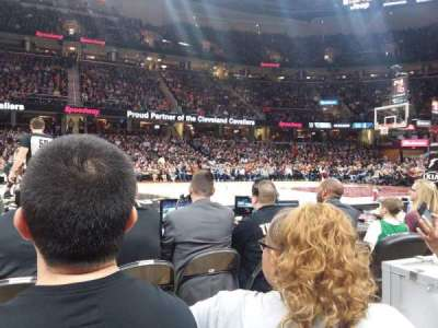 Quicken Loans Arena, section: 25, row: DD, seat: 6
