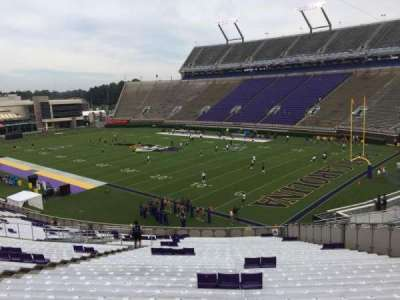Dowdy-Ficklen Stadium, section: 1, row: SS, seat: 15