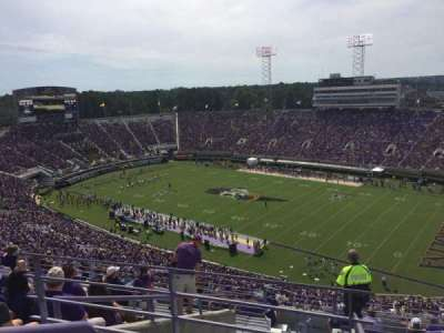 Dowdy-Ficklen Stadium, section: 213, row: K, seat: 9