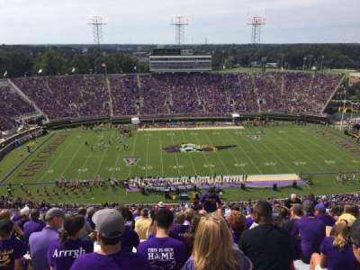 Dowdy-Ficklen Stadium, section: 218, row: T, seat: 13
