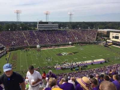 Dowdy-Ficklen Stadium, section: 219, row: O, seat: 36