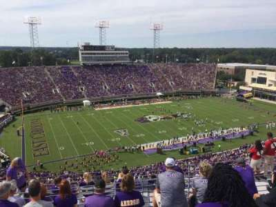 Dowdy-Ficklen Stadium, section: 220, row: K, seat: 18
