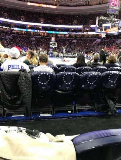 Wells Fargo Center, section: 106, row: B, seat: 8-5