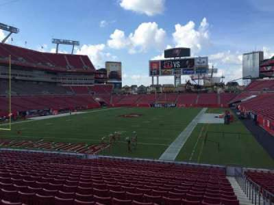 Raymond James Stadium section 125