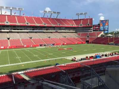 Raymond James Stadium, section: 207, row: E, seat: 18
