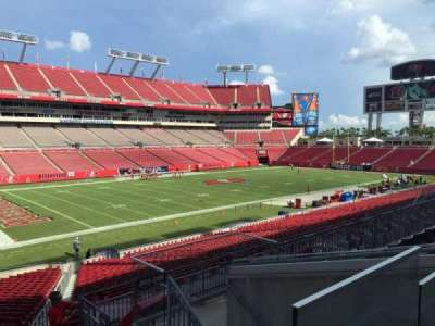 Raymond James Stadium, section: 205, row: E, seat: 18