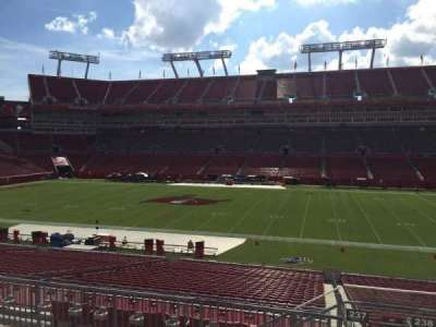 Raymond James Stadium, section: 237, row: F, seat: 22