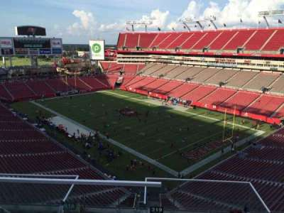 Raymond James Stadium, section: 319, row: E, seat: 1