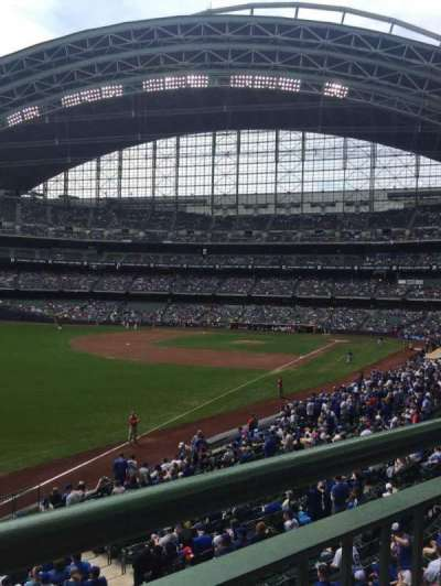 Miller Park, section: 231, row: 1, seat: 10