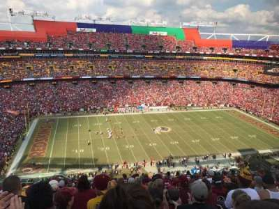 FedEx Field, section: 403, row: 15, seat: 16