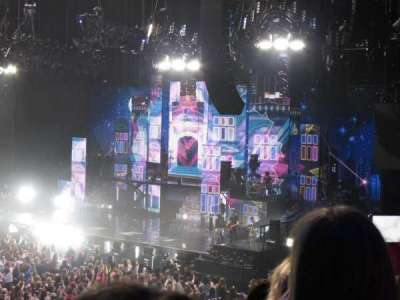 The O2 Arena, section: 111, row: U, seat: 345