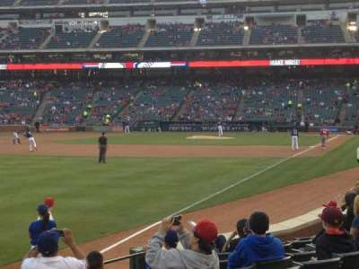 Globe Life Park in Arlington, section: 12, row: 9, seat: 1