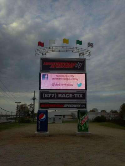Martinsville Speedway section Lots
