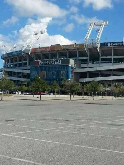 EverBank Field section Parking Lot