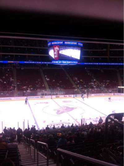 Gila River Arena, section: 102, row: Z, seat: 1