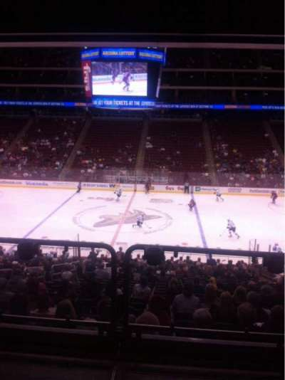 Gila River Arena, section: 122, seat: 4