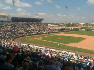Hammond Stadium, section: 201, row: 14, seat: 1