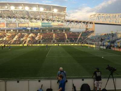 Talen Energy Stadium, section: 103, row: F, seat: 16