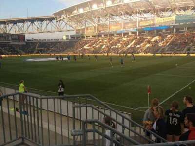 Talen Energy Stadium, section: 101, row: F, seat: 6