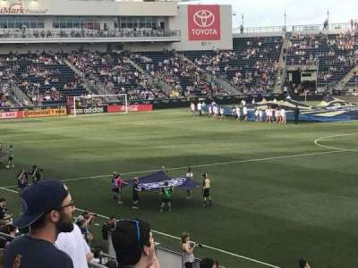 Talen Energy Stadium, section: 103, row: N, seat: 12