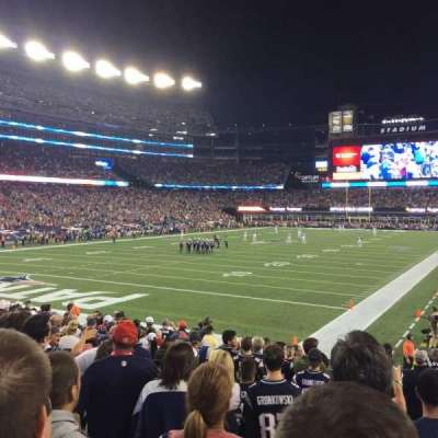 Gillette Stadium, section: 140, row: 15, seat: 3