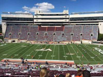 Lane Stadium, section: 9, row: UUU, seat: 24